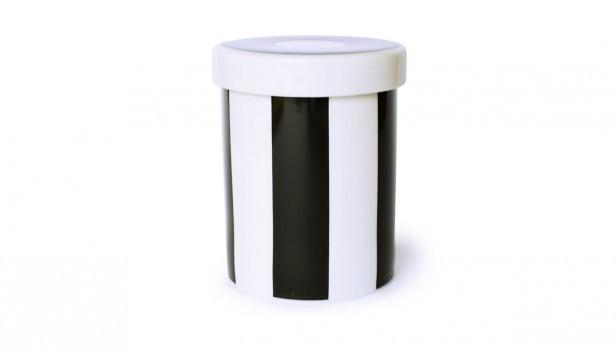 Remember Porcelain Tin Black & White