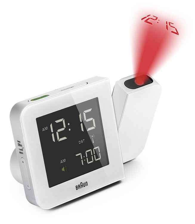 Braun digital clocks – BNC015WH-RC – projectieklok wit