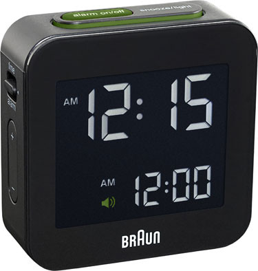Braun digital clocks – BNC008BK-RC - reiswekker zwart