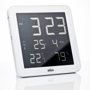 Braun digital clocks – BNC014WH-RC wit wand/tafel klok