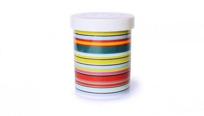 Remember Porcelain Tin Colour Stripes