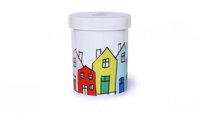 Remember Porcelain Tin Little Village