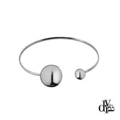 Diva Armband Eclisse Zilver Hoogglans