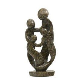 Familie beeld steen