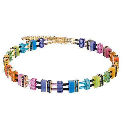Coeur de Lion Ketting 2838/ /1573 Multicolor Rainbow-Gold 2