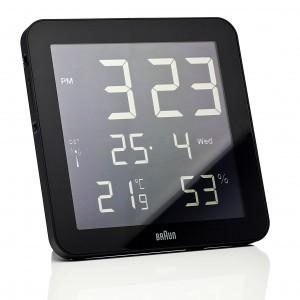 Braun digital clocks – BNC014BK-RC zwart wand/tafel klok