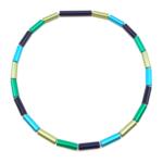 Otracosa Ketting blauw/groen/lichtgroen/lichtblauw C217