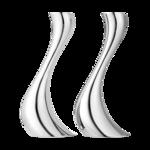 Georg Jensen Cobra kandelaar middel set van 2