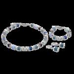 Coeur de Lion Ketting 4747/ /0700 Crystals Malachite Blue