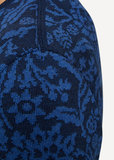 Oleana Long Cardigan 168 W blauw_