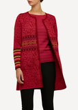 Oleana Long Cardigan 168 R rood
