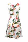 Blueberry Italia linnen jurk wit 51042-46_