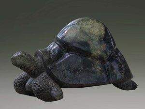 Stenen tuinbeeld uniek dier, Take it easy, turtle, schildpad abstract