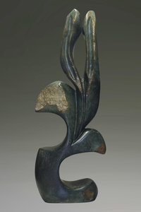 Stenen tuinbeeld uniek, Bloem abstract