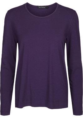 Two Danes Betty shirt lange mouw donkerpaars 25511-249