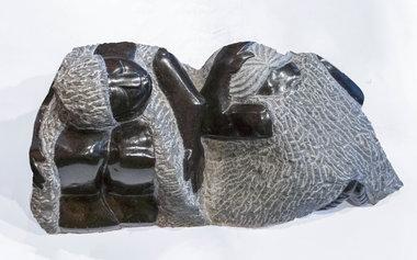 Stenen beeld uniek familie en vrienden, Together