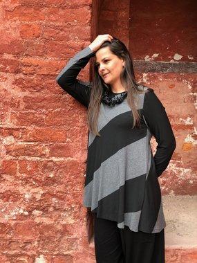Baldino kleding tuniek 2-1049C zwart/grijs