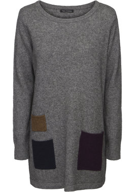 Two Danes trui Yes Sweater grijs melange 25092-2995