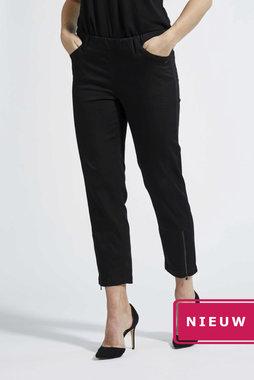 Laurie broek, model Piper Regular Cropped basis katoen zwart 22465-99100
