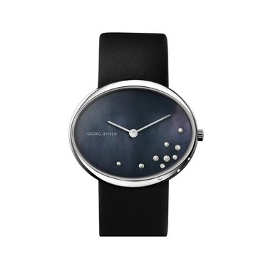 Georg Jensen horloge 423 Vivianna Oval Black