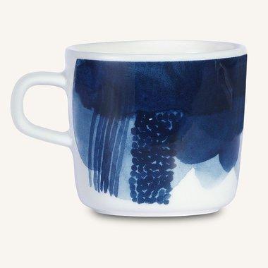 Marimekko servies Oiva beker zwart/blauw 2 dl 066014-150