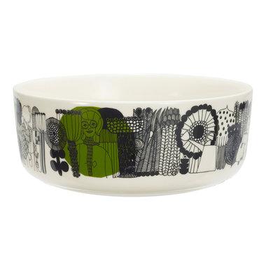 Marimekko servies Oiva schaal wit/zwart/groen 1,5 l 063302-196