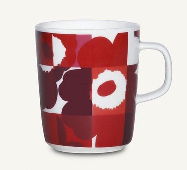 Marimekko servies Oiva/Unikko beker rood 2,5 dl 067309