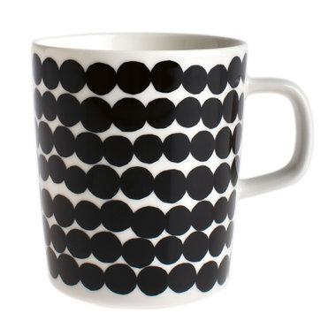 Marimekko servies Oiva beker wit/zwart 2,5 dl 063296-190