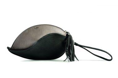 by-Lin Tas Heliconia Clutch zwart/grijs 160980
