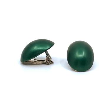 Otracosa oorbellen clip rond groen STCL 2,3 x 1,5 cm