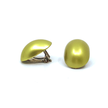 Otracosa oorbellen clip rond geel STCL 2,3 x 1,5 cm