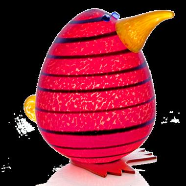 Glasstudio Borowski Kiwi Egg Red