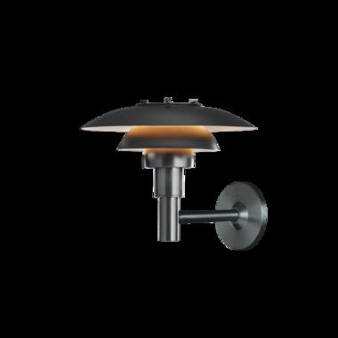 Louis Poulsen buitenlamp PH3-2½ wandlamp zwart
