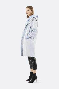 Rains Regenjas Fishtail Parka unisex metallic ice grey 1257-96