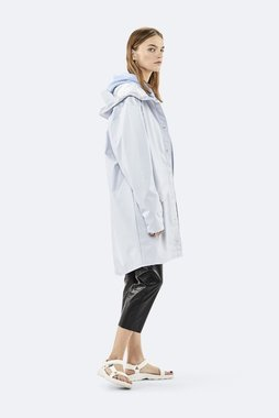 Rains Regenjas Long Jacket unisex Metallic Ice Grey 1202-96