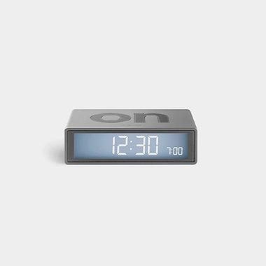 LEXON Flip Travel Clock Silver LR151A9