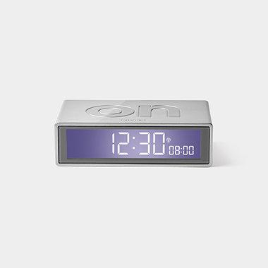 LEXON Flip Clock RCC Glossy Aluminium LR150A9