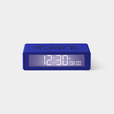 LEXON Flip Clock RCC Rubber Blauw LR150B9