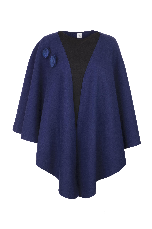 Geesje Sturre cape blauw 234658