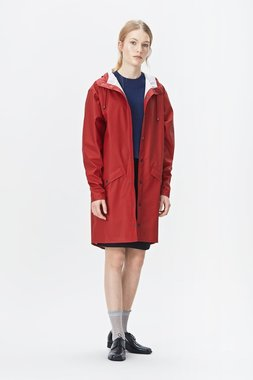 Rains Regenjas Long Jacket unisex rood 1202-20
