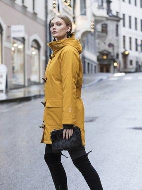 Blaest winter regenjas model Montreal okergeel