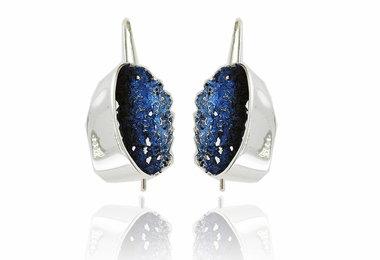 Arior Gala oorbellen Electric-blue