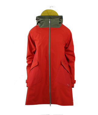 Blaest regenjas model Amsterdam rood