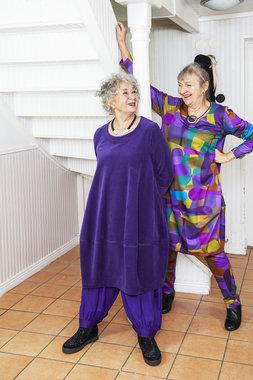 Ralston jurk Bimse paars/groen/geel