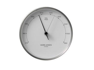 Georg Jensen barometer RVS/wit 10 cm Henning Koppel