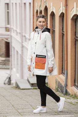 Blaest regenjas model Copenhagen wit