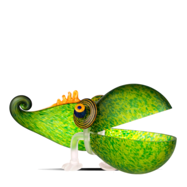 Glasstudio Borowski Chameleon Big Green