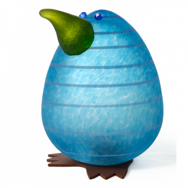 Glasstudio Borowski Kiwi Egg Light Blue