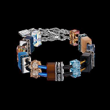 Coeur de Lion Armband 2838/ /0732 Blue-Brown-Beige