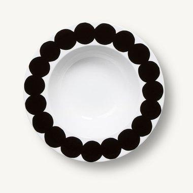 Marimekko servies Oiva diep bord wit/zwart 2,5 dl 067842-109